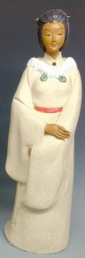 Chinese Ceramic Figurine Master Oriental Lady Exclusive Statue Winter