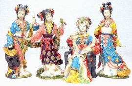 The 4 Great Beauties - Dream of the Red Chamber - Porcelain Ladies