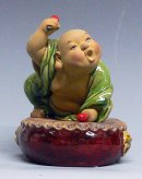 Porcelain / Ceramic Doll Happy Monk Make You Laughing Figurine Statue