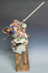 Chinese Ceramic Figurine Masterpiece Monkey King Sun Wukong
